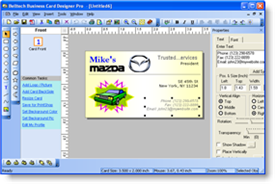business card software, program, maker